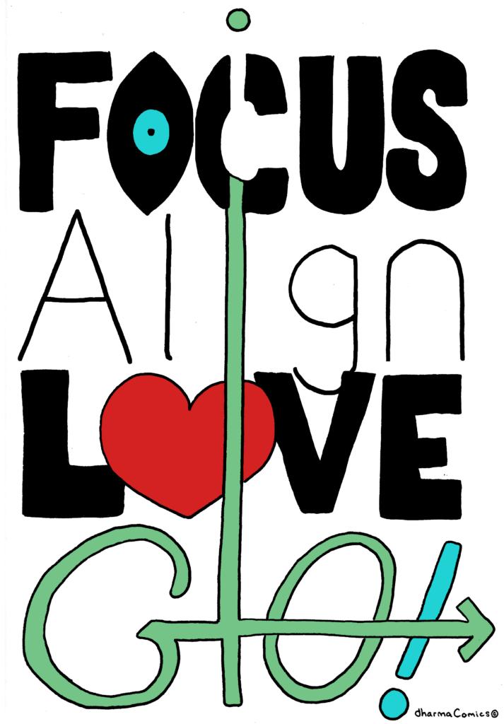 Illustration: Focus, align, love