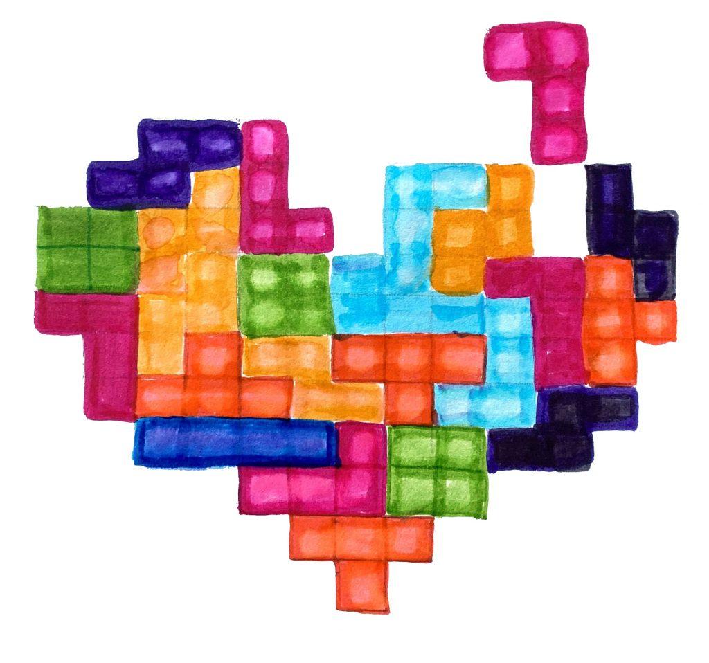 Heart shaped Tetris