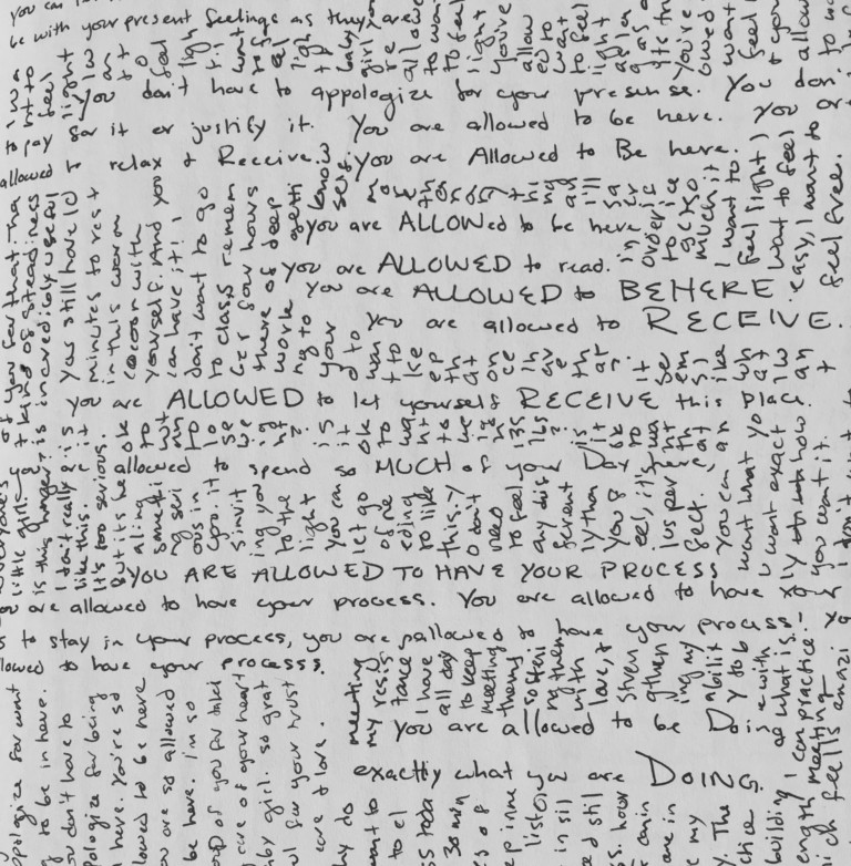 Photo of page from Leah's journal