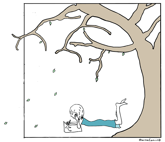 Comic: Drawing under a tree