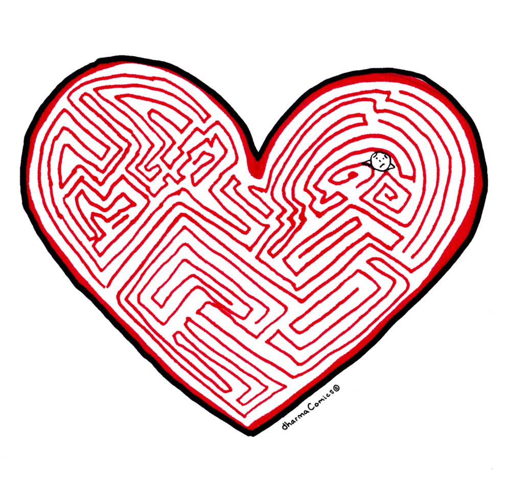 Comic: Heart shaped maze
