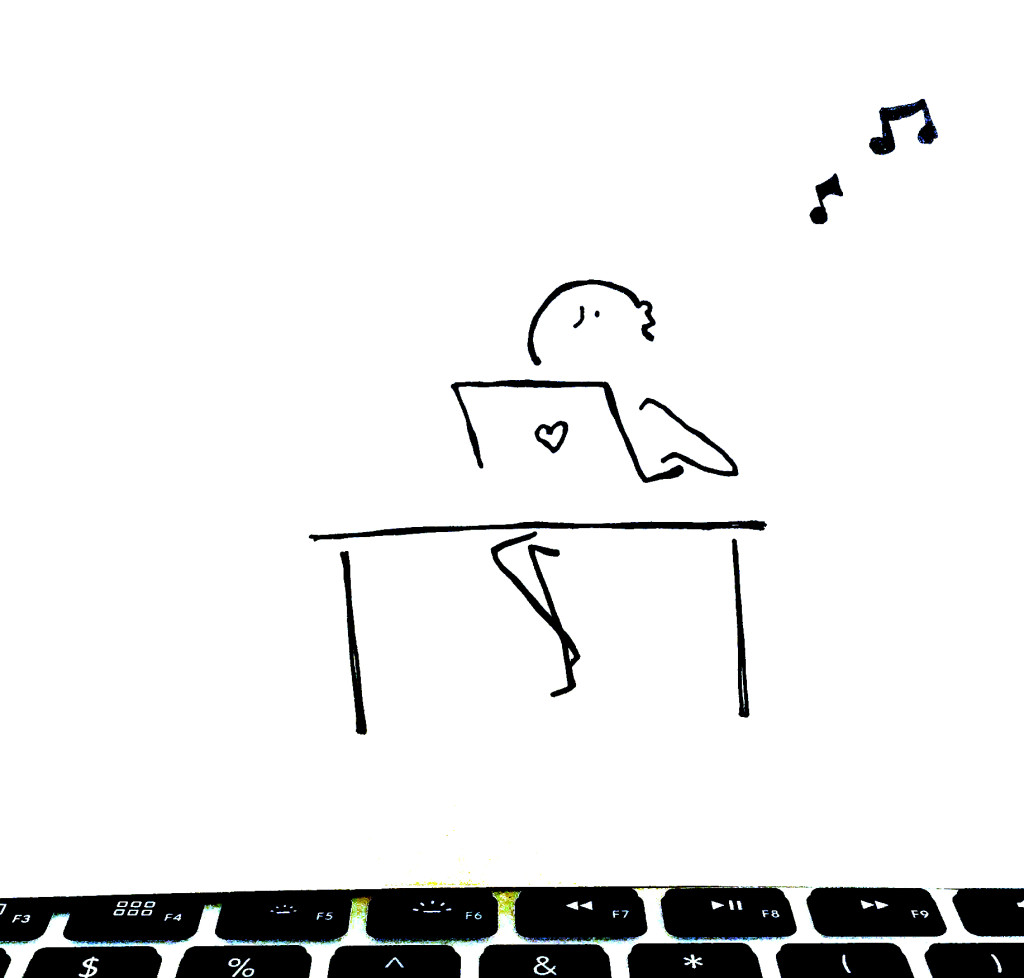 Comic: Distracted by music while working