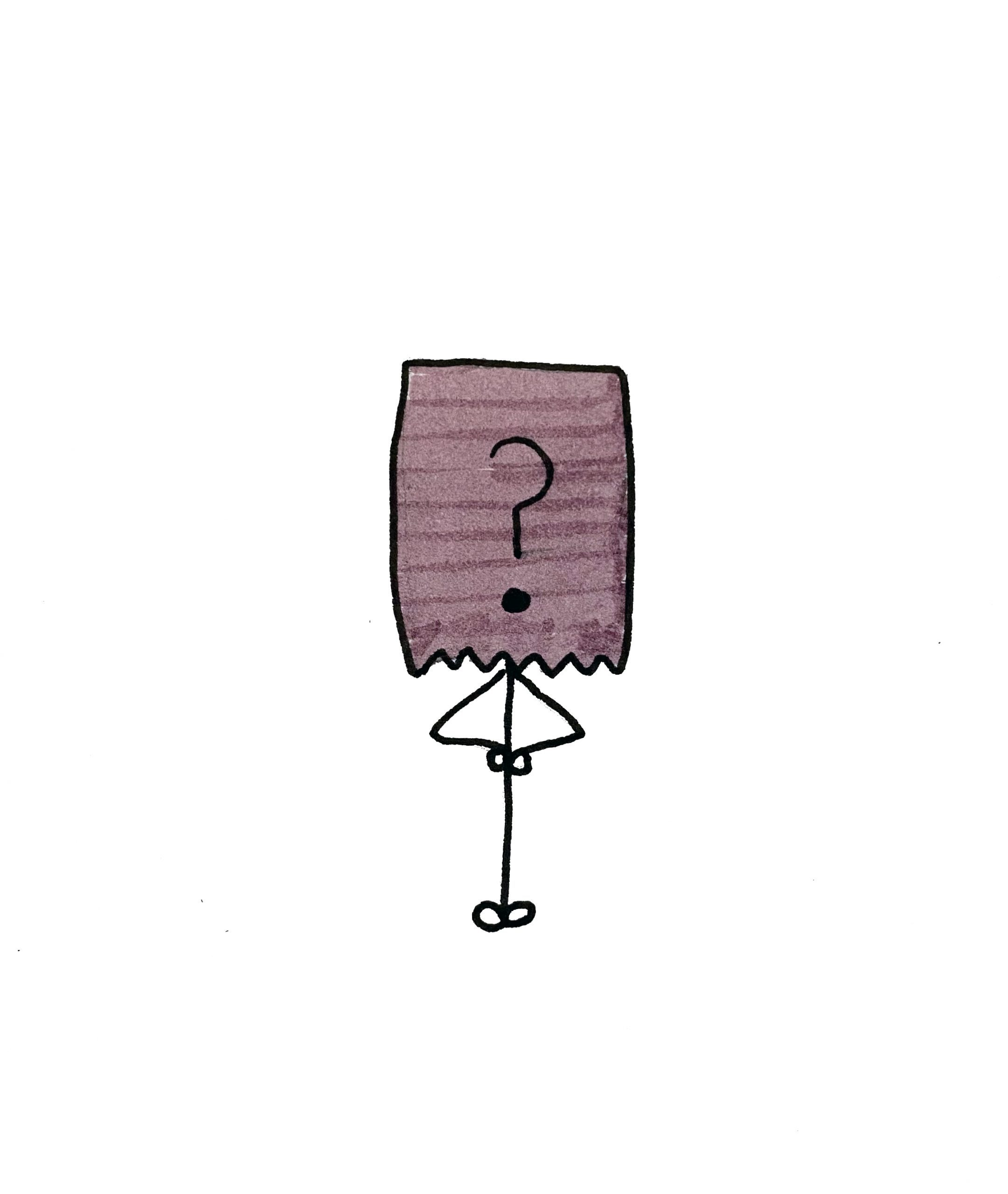 Illustration: Person hiding in a paper bag