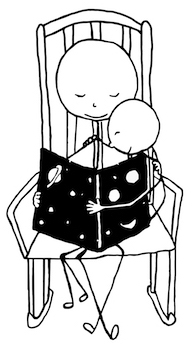 Comic: Parent reading their child a story