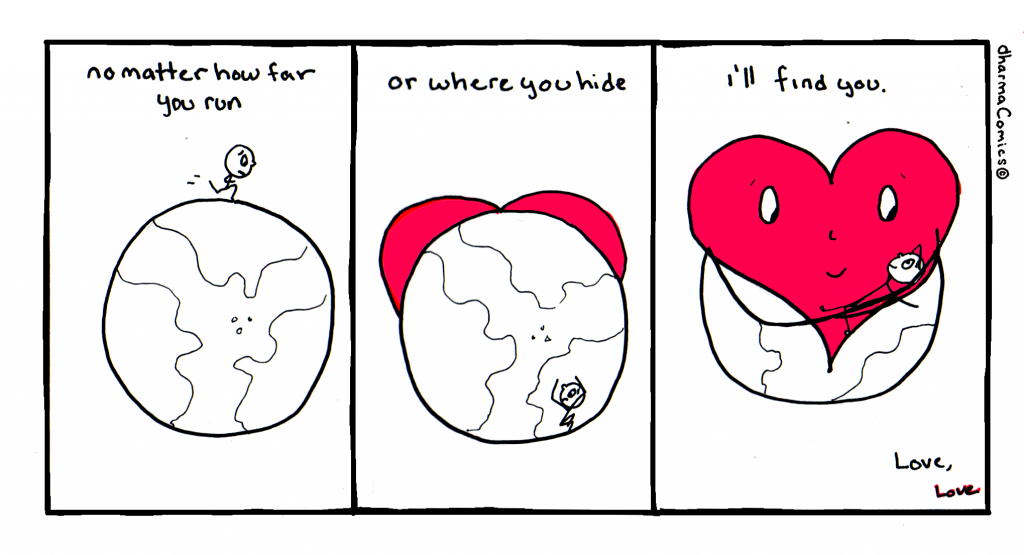 Comic: No matter how far you run or where you hide love will find you